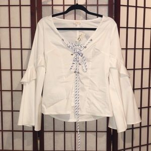 White boho blouse M